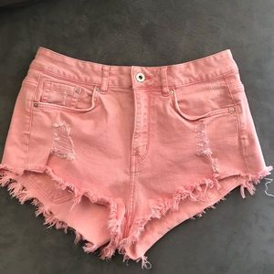 Urban outfitters pink high waisted shorts